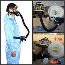Electric Constant Flow Supplied Air Fed Paint Spray Mask Respirator System+10m