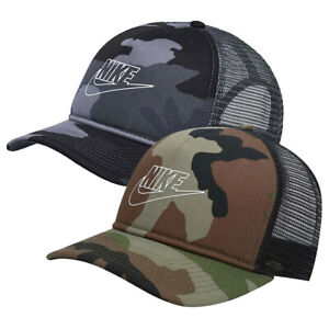 Nike Classic 99 Sportswear Futura Trucker Hat Cap Classic99 Black Green Camo