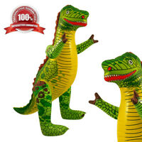 LARGE INFLATABLE 76cm T-Rex Godzilla Jurassic Dinosaur Toy Stocking Filler Xmas