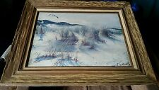 ORIGINAL FRAMED CANVAS OIL PAINTING by ARTIST A. SEHRING #731
