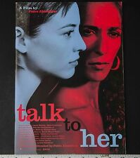 05415 Pedro Almodover Leonor Walting 2002 Talk To Her Japanese Movie Program