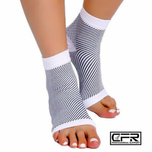 Copper Sleeve Compression Socks Plantar Fasciitis Foot Pain Ankle Support Brace