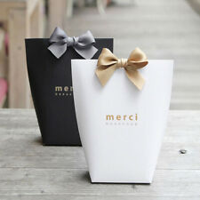 Thank You Merci Gift Bag Packaging Candy Paper Wedding Gift Box Cookie Bag Wrap