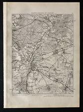 1880 - Carte ancienne de Valenciennes et Condé