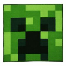MINECRAFT CREEPER SQUARE SHAPED FLOOR RUG CHILDRENS 80cm x 80cm