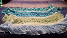 Blue Hues Ruffled Rectangular Silky Thin Three Season Scarf