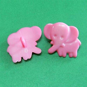 15 Large Big Elephant Kid Craft Sewing Self Shank Sew On Buttons 20mm Pink K501