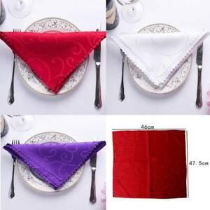 Wedding Restaurant Hotel Napkins Party Table Cloth Tableware Fiber Napkins BB