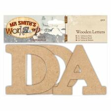 Papermania Wooden Letters (3pcs) - Mr Smith's Workshop  -  for cards & crafts