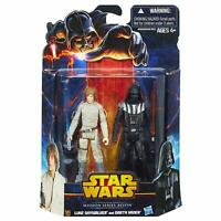 "Star Wars Mission Series Bespin Pack Luke Skywalker & Darth Vader 3.75"" NEW"