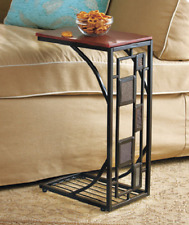 Side Tables for Small Spaces End Table Sofa Couch Stow Away RV Stand Home Decor