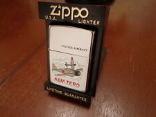 A6M ZERO PLANE WWII VINTAGE AIRCRAFT SERIES  ZIPPO LIGHTER MINT IN BOX J 1995