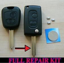 Citroen Saxo Xsara Picasso Berlingo 2 botón Flip Remoto Llavero caso Kit de reparación