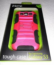 iHome tough case for Samsung Galaxy S3 METALLIC PINK/BLACK ~ IH-3S110P ~ New