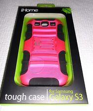 iHome tough case for Samsung Galaxy S3 METALLIC PINK/BLACK ~ IH-3S110P ~ New