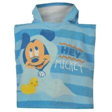 DISNEY BABY poncho serviette cape de bain à capuche MICKEY bleu 0-24 mois NEUF