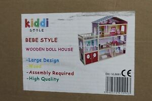 KIDDI STYLE Bebe Wooden Modern Villa Dolls House w Furniture DH-VL661 NEW