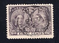 Canada Sc #56 (1897) 8c dark violet Diamond Jubilee VF Used