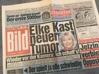 Bildzeitung BILD 29.10.1992 * zum 25. 26. 27. Geburtstag * Elke Kast
