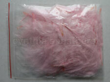 """8g (1/4Oz+) Blush Pink 1~3"""" Turkey Marabou Feathers for crafting, 50-70 counts"""