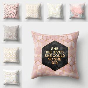 SZ 45*45cm Geometric Printed Polyester Pillow Case Sofa Cushion Cover Home Decor