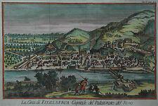 Heidelberg - La Citta di Eidelberga... - Seltener Kupferstich von Salmon um 1740