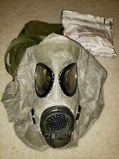 Msa M17a2 Us military gas Cbrn pro mask Medium filters bag hood M40 Nbc Mcu2/P