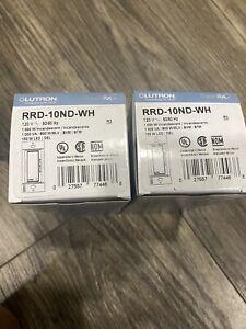 Lot Of 2 Brand New Lutron RRD-10ND-WH Radio Ra2 RadioRA  Dimmer Switch - NEW