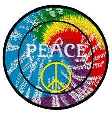 ab06 Peace Zeichen Regenbogen Aufnäher Bügelbild Patch Flicken 7,8 x 7,8 cm