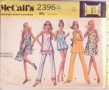 "2396 McCALLS c.1970 - MATERNITY: DRESS TOP PANTS SHORTS - Sz 8 B 31.5"""