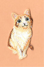 Cat - Kitten - Domestic - Pet  - Embroidered Iron On Applique Patch
