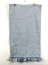 Ralph Lauren One Standard Pillowcase Ruffle Window Pane Plaid White Blue EUC