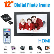 12 Inch HD LCD Digital Picture Photo Frame Clock Video Mp3 Player Remote Control