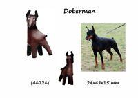 Llavero Piel Auténtica Cuero Hombre Colgante Mujer 3D Dobermann