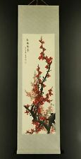 """CHINESE HANGING SCROLL ART Painting """"Plum blossoms""""  #E6361"""