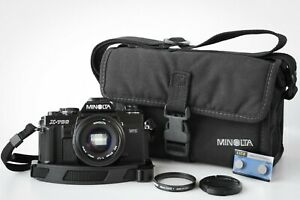 Film Tested MINOLTA X-700 MPS 35mm CAMERA w/ 50mm 1.7 Lens, Bag, Filter, Strap