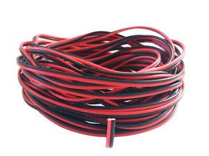 5-10-20-50-100m 2-adriges LED Kabel 0,25mm² - 0,5mm², Verlängerungskabel
