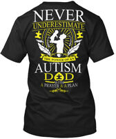 Autism Awareness S For Dad - Never Underestimate The Hanes Tagless Tee T-Shirt