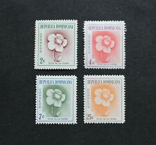 DOMINICAN REPUBLIC - 1957 SCARCE MAHOGANY FLOWER SET UNUSED LHM RR