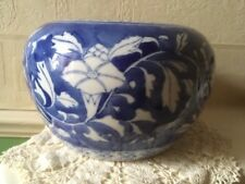 Vintage Chinese Jar Hand Painted Blue & White