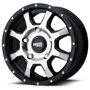"Moto Metal MO970 17x8 5x130 +50mm Black/Machined Wheel Rim 17"" Inch"