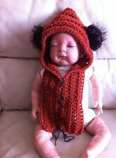 crochet baby ewok star wars yoda hat snood photo props costume fancy dress 0-3