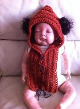 crochet baby ewok star wars yoda hat snood photo props costume fancy dress 0-3