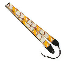 Genuine Fender Monogram Natural/Brown/Yellow Strap for Guitar/Bass 099-0683-000