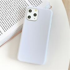Funda Carcasa Case Silicona Compatible Con Iphone 5 6 7 8 11 X Plus Color Blanco