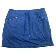 Tangerine Womens Activewear Golf Skort M Medium Blue Pockets Tie Waist