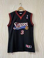 PHILADELPHIA 76ERS SIXERS BASKETBALL SHIRT JERSEY NBA CHAMPION # 3 ALLEN IVERSON
