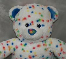 "2011 BUILD A BEAR Plush 18"" DQ Blizzard RAINBOW CONFETTI CANDY SPRINKLES Bear"