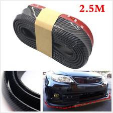 2.5m Universal Carbon Fiber Front Bumper Lip Splitter Chin Spoiler Body Kit Trim
