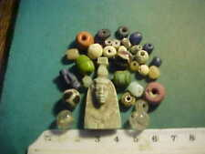 30+ Ancient beads circa 1000 BC- 1700 AD +  an Egyptian  amulet